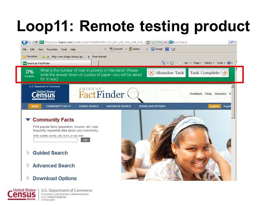 Loop11: Remote testing product