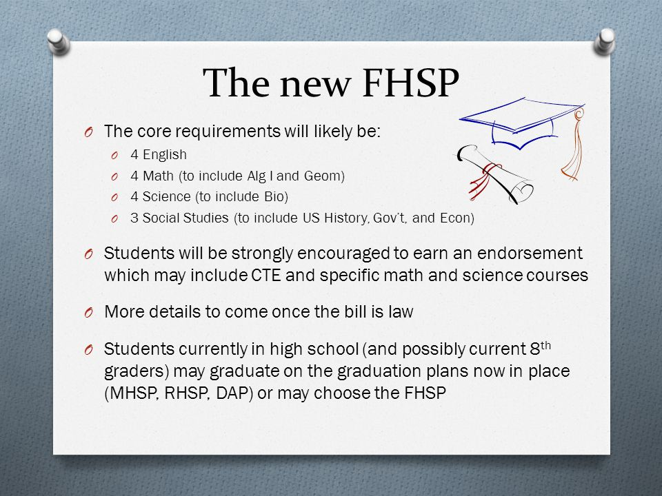 Key Components of HB 5 House Version Senate Version Will reduce End-of-Course exam requirements O Algebra I O Biology O US History O English II Reading O English II Writing O Algebra I O Biology O US History O English I (R+W) O English II (R+W)