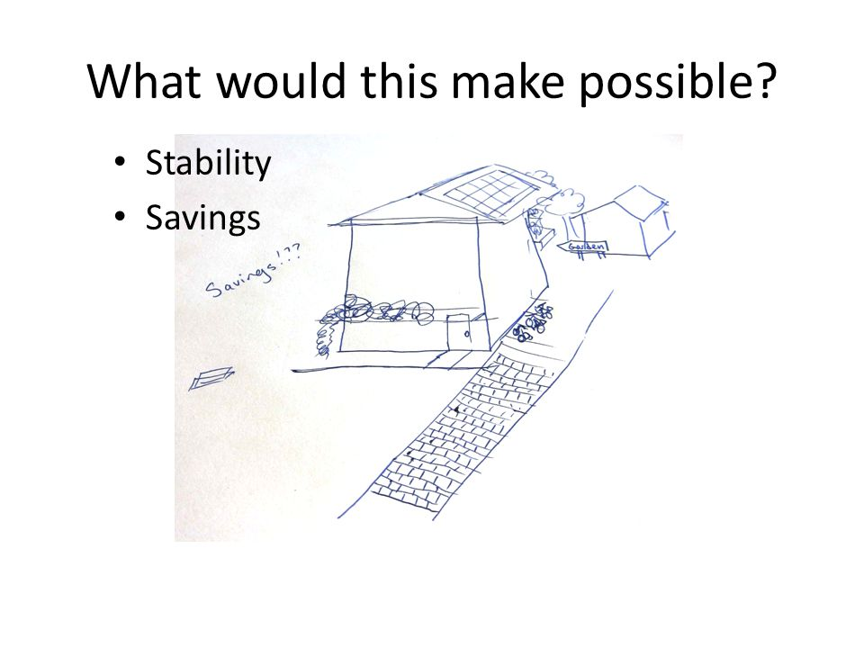 What would this make possible Stability Savings