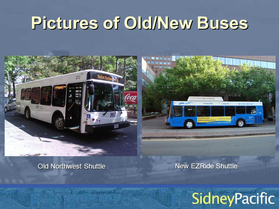 Pictures of Old/New Buses Old Northwest Shuttle New EZRide Shuttle