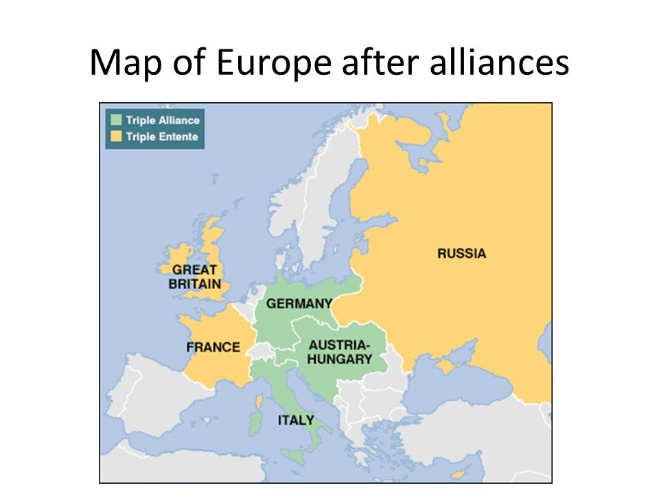 1907 Triple Entente 1907 Anglo-Russian Entente – Like Entente Cordiale this was not military – Merely cleared relations between two countries, and res