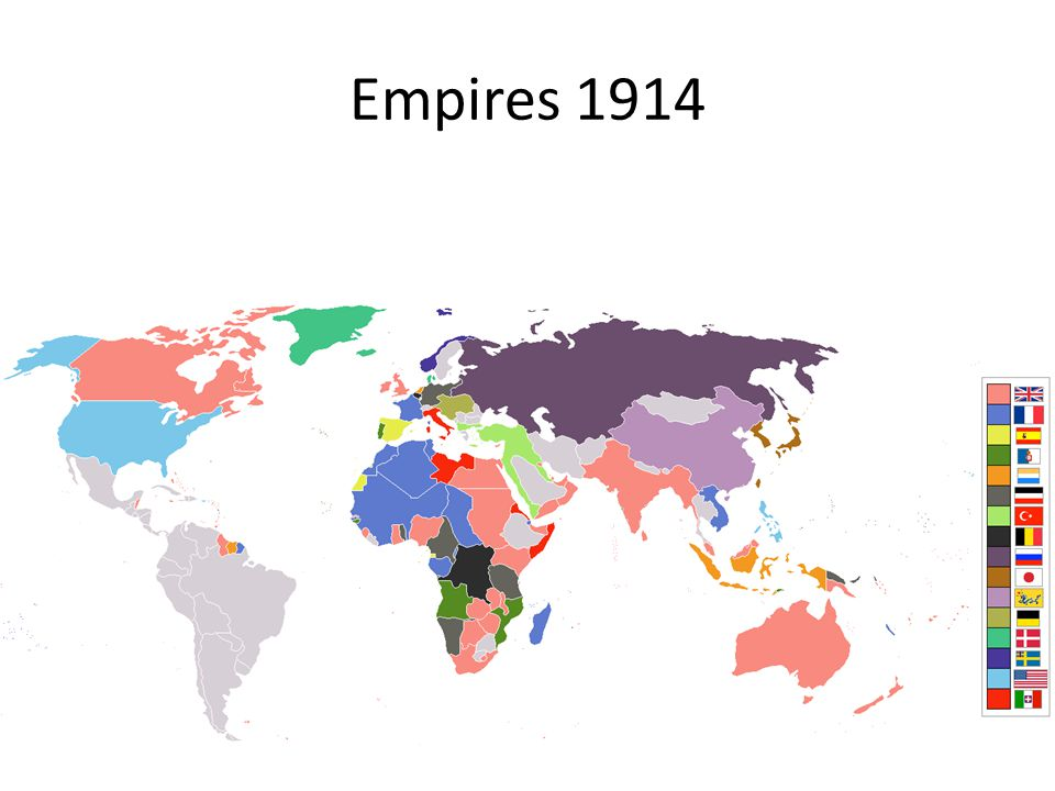 Empire of Germany He also wanted his own empire – A place in the sun. Realised virtually all countries worth having were part of France or GB. Therefo