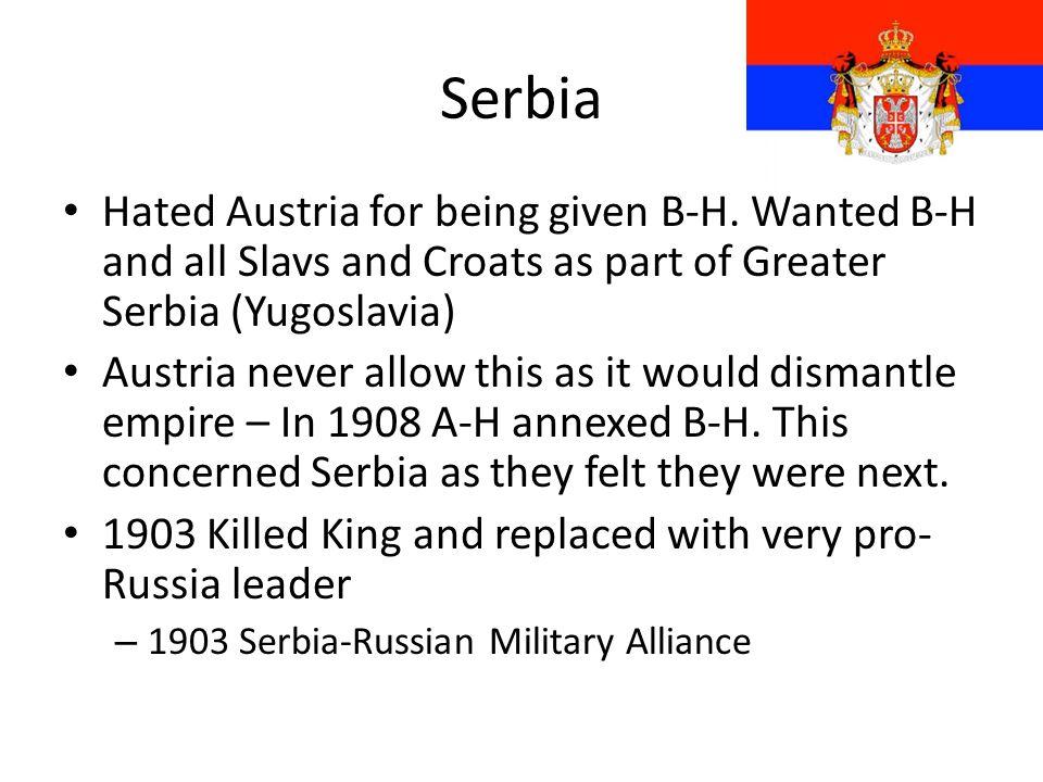 Balkans Up to 1877 Balkans was part of Ottoman Empire Following various wars = Treaty of Berlin 1878: – Serbia, Montenegro, Bulgaria & Romania given i