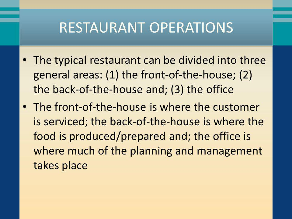 MANAGEMENT Different operations use different titles – General manager – Unit manager – Assistant manager – Manager on duty Responsibilities will differ as well In all forms, there is a hierarchy