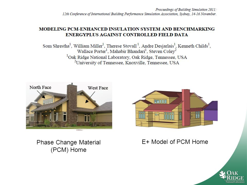 E+ Model of PCM Home Phase Change Material (PCM) Home