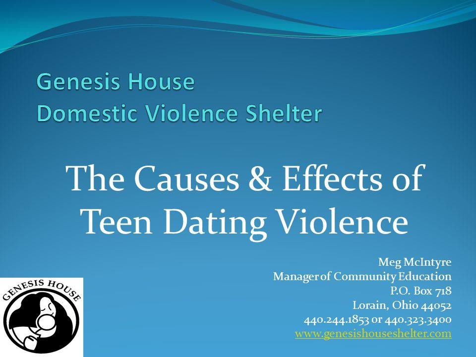 Meg McIntyre Manager of Community Education P.O. Box 718 Lorain, Ohio 44052 440.244.1853 or 440.323.3400 www.genesishouseshelter.com The Causes & Effe