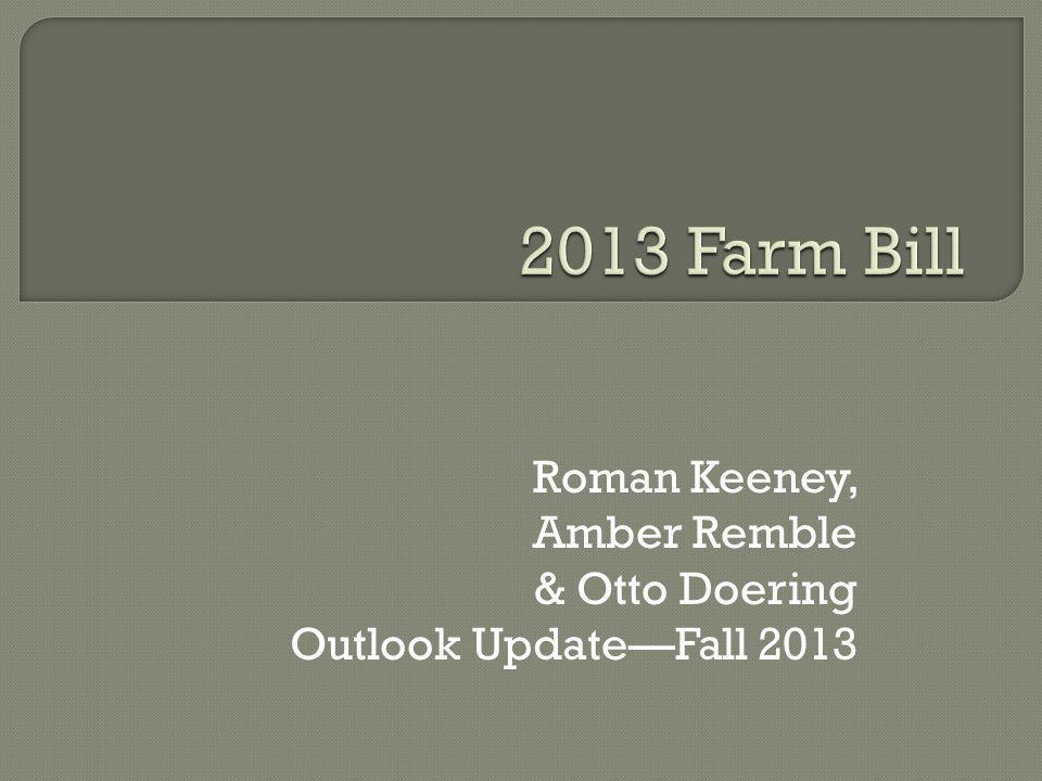 Roman Keeney, Amber Remble & Otto Doering Outlook UpdateFall 2013