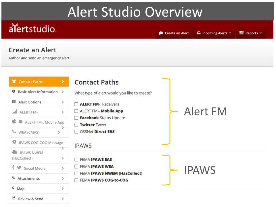 Alert FM IPAWS Alert Studio Overview