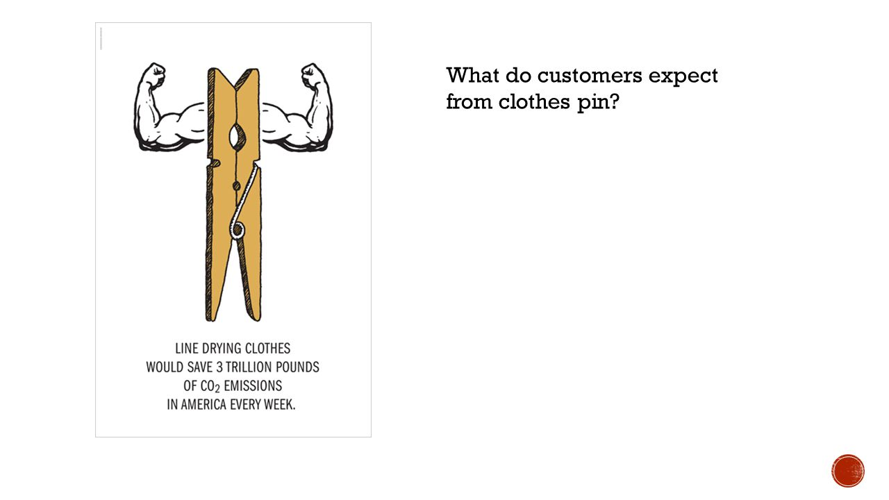 What do customers expect from clothes pin?