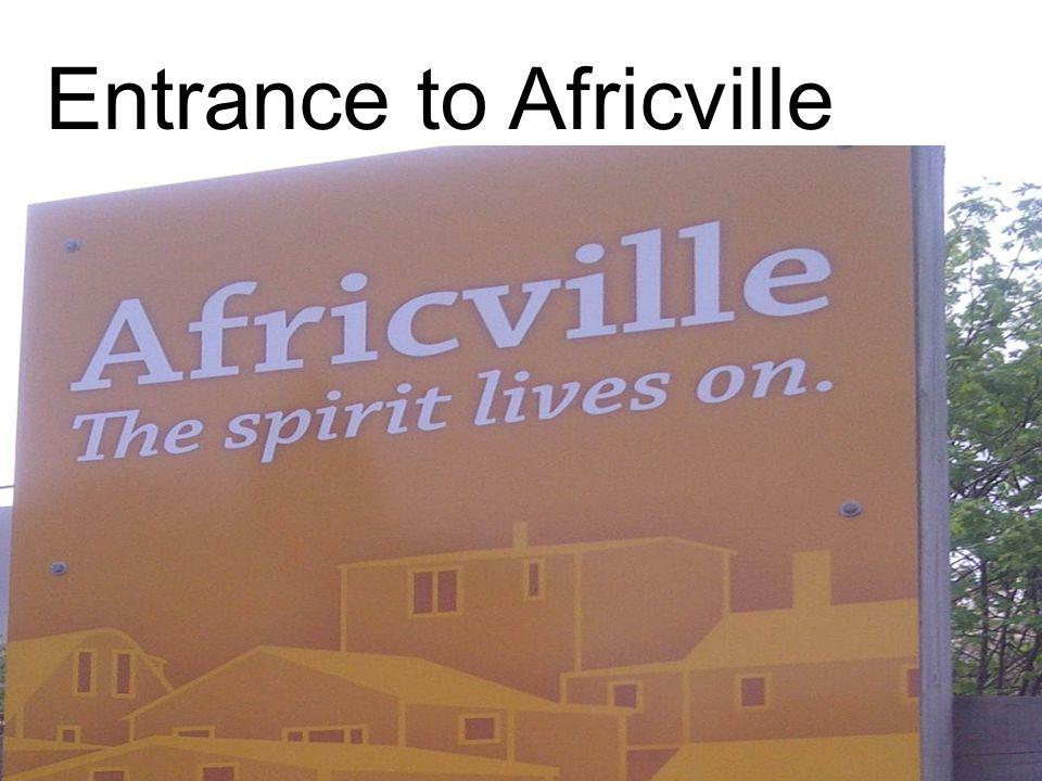 Entrance to Africville UAA 2013 - San Francisco, CA