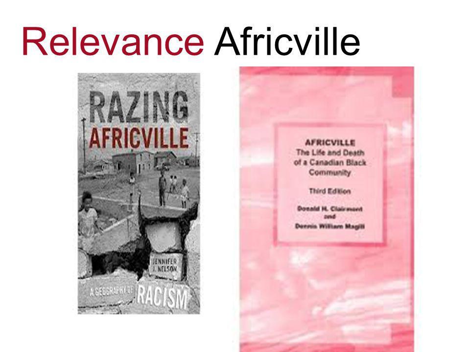 Relevance Africville