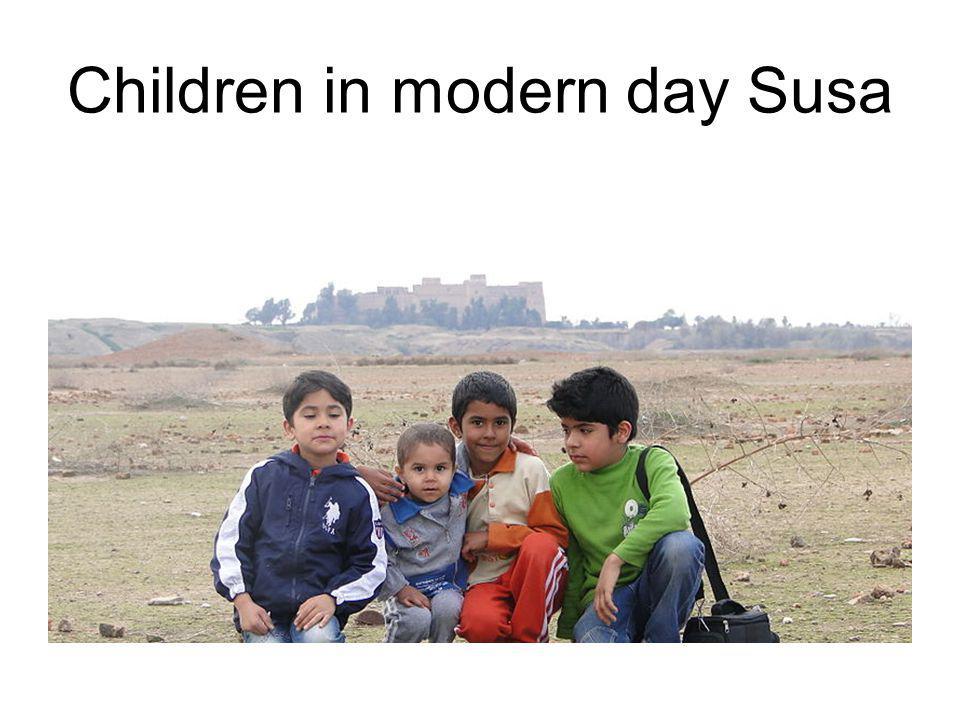 Children in modern day Susa