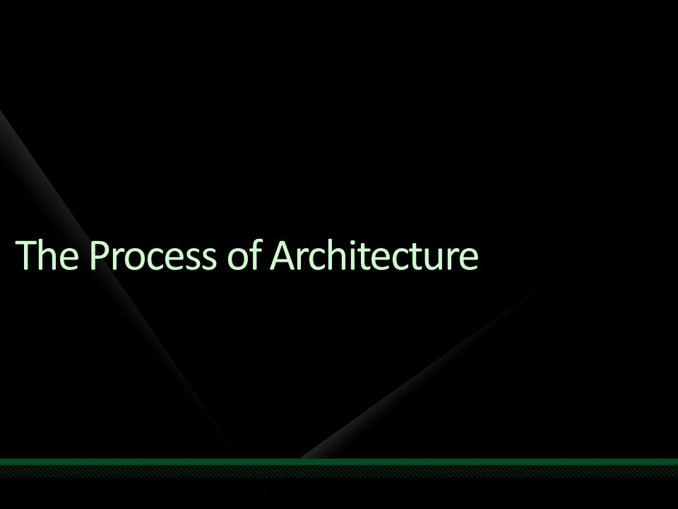 The Process of Architecture