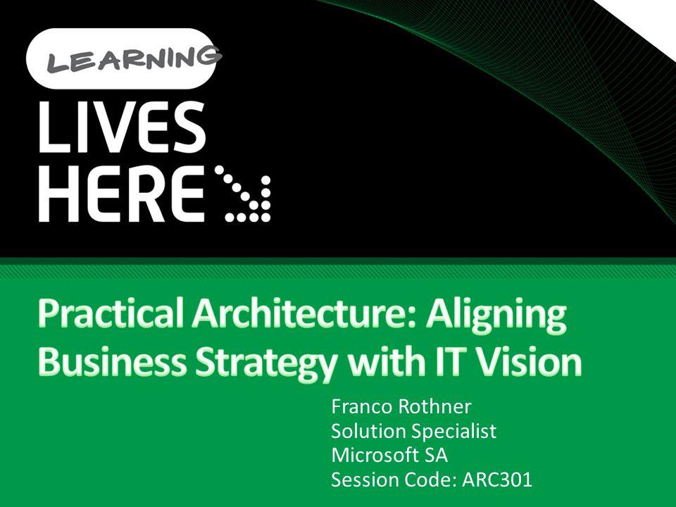 Franco Rothner Solution Specialist Microsoft SA Session Code: ARC301