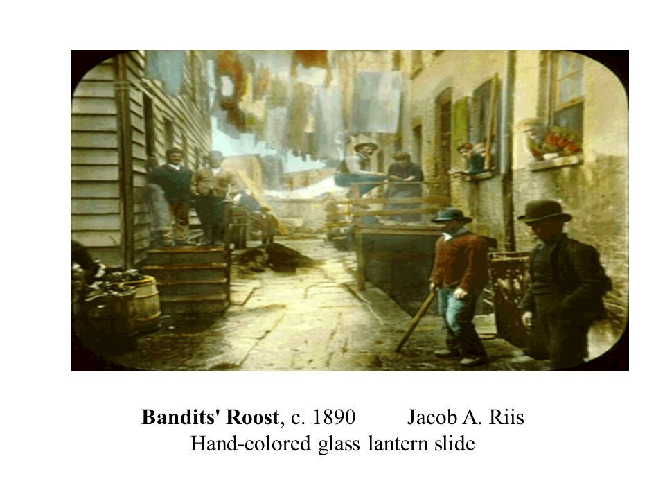 Jacob Riis spent his life documenting the lives of the poor and down-trodden in the cities.