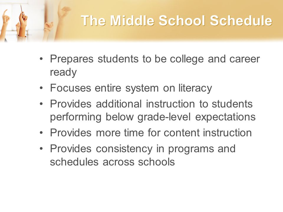 Middle School Schedule Guidelines