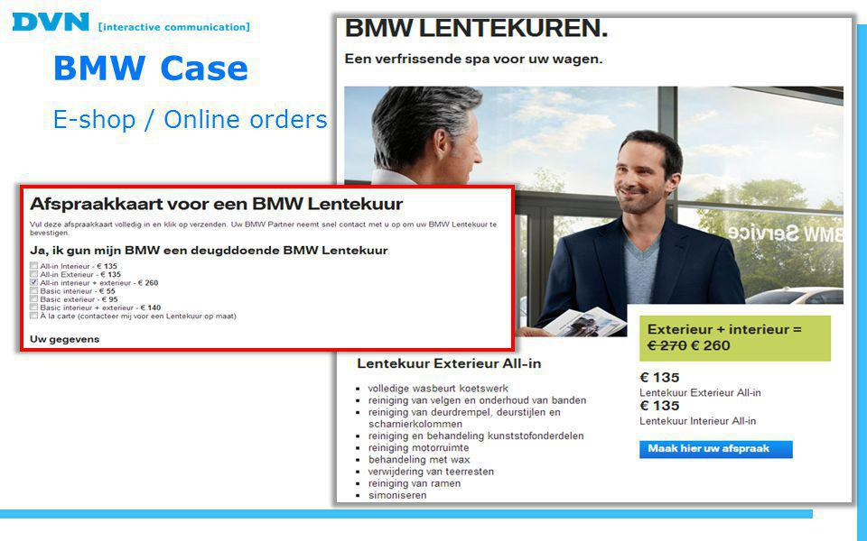 BMW Case E-shop / Online orders