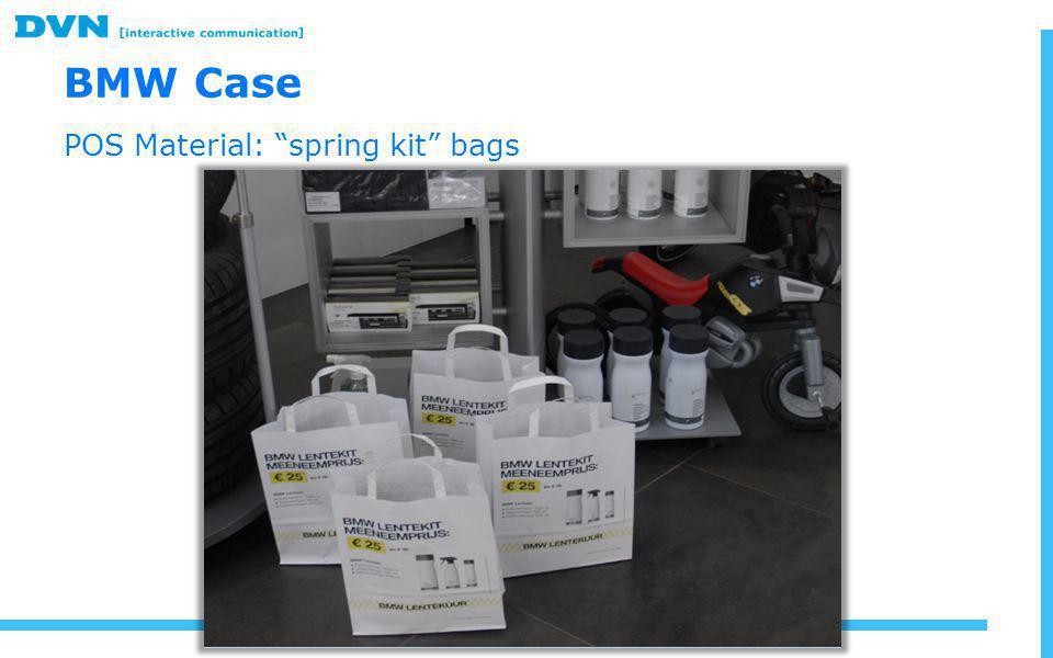 BMW Case POS Material: spring kit bags