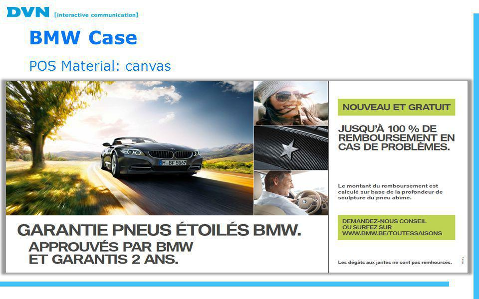 BMW Case POS Material: canvas