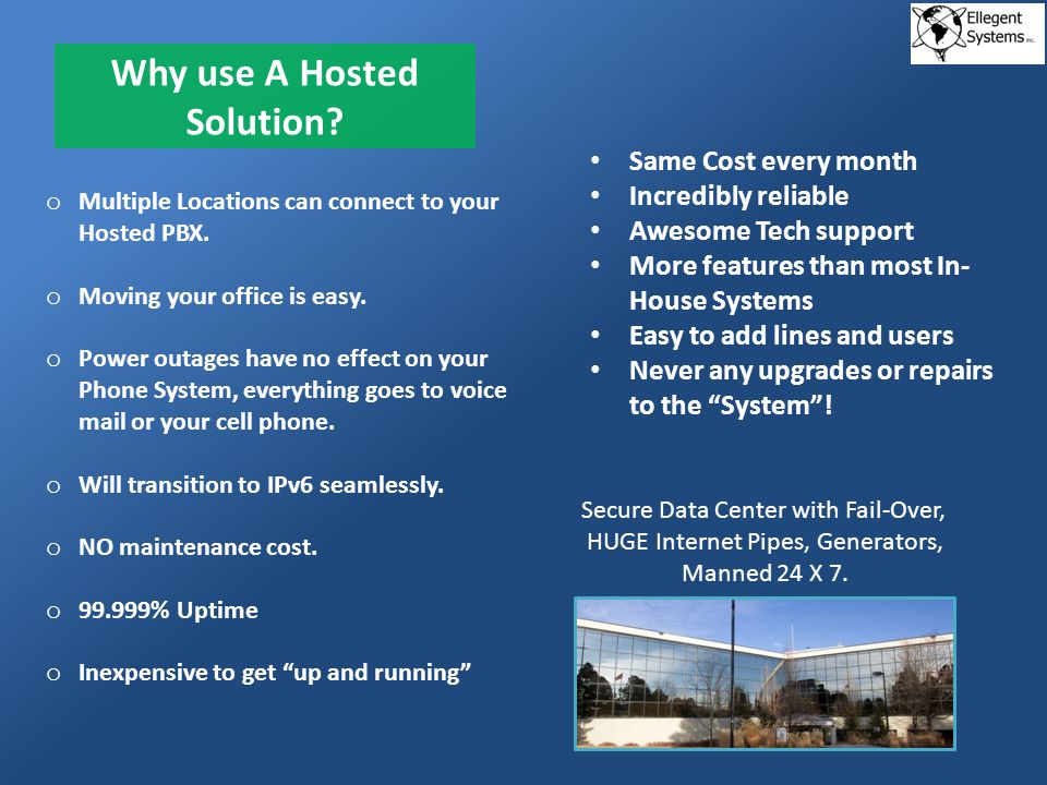 Why use A Hosted Solution.