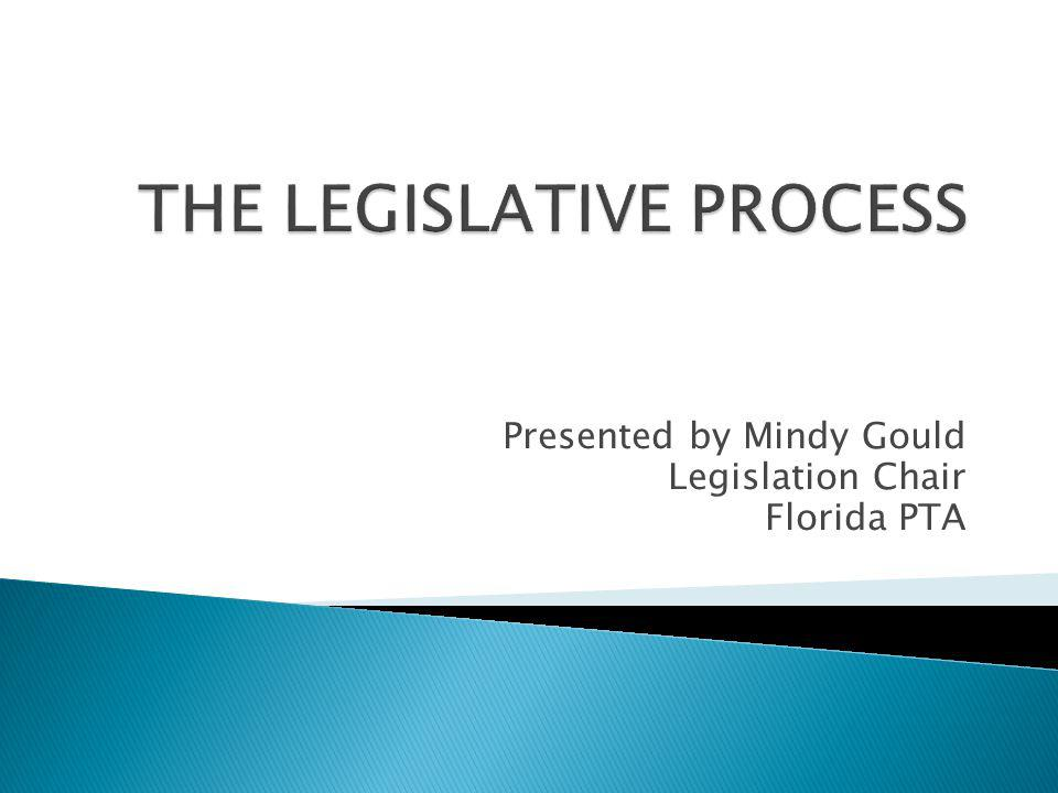 Presented by Mindy Gould Legislation Chair Florida PTA