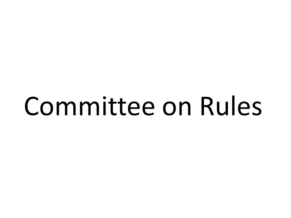 Committee on Rules
