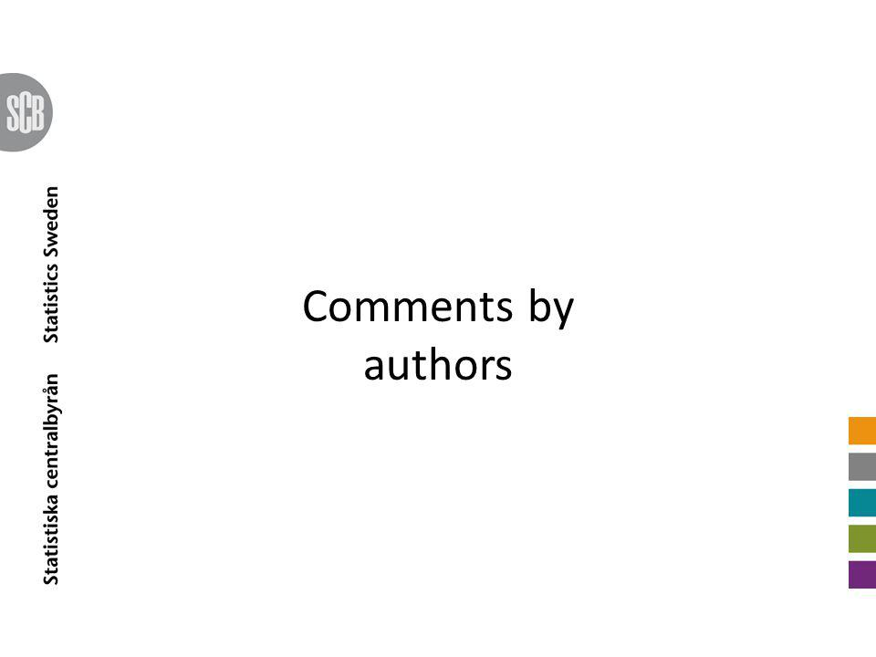 Comments by authors