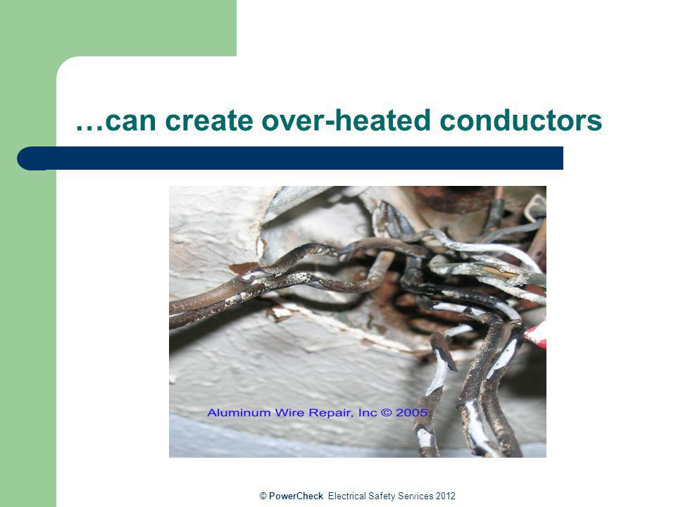 …can create over-heated conductors © PowerCheck Electrical Safety Services 2012