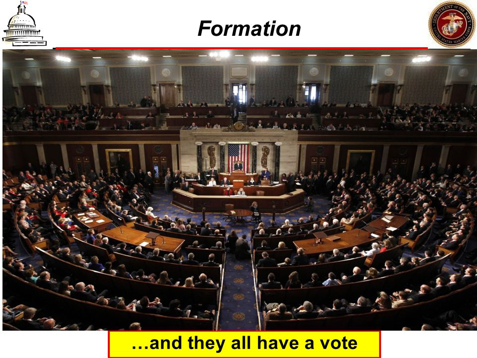 Formation …and they all have a vote