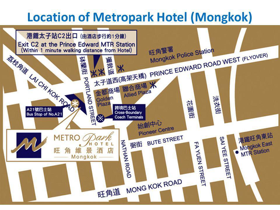 Location of Metropark Hotel (Mongkok)