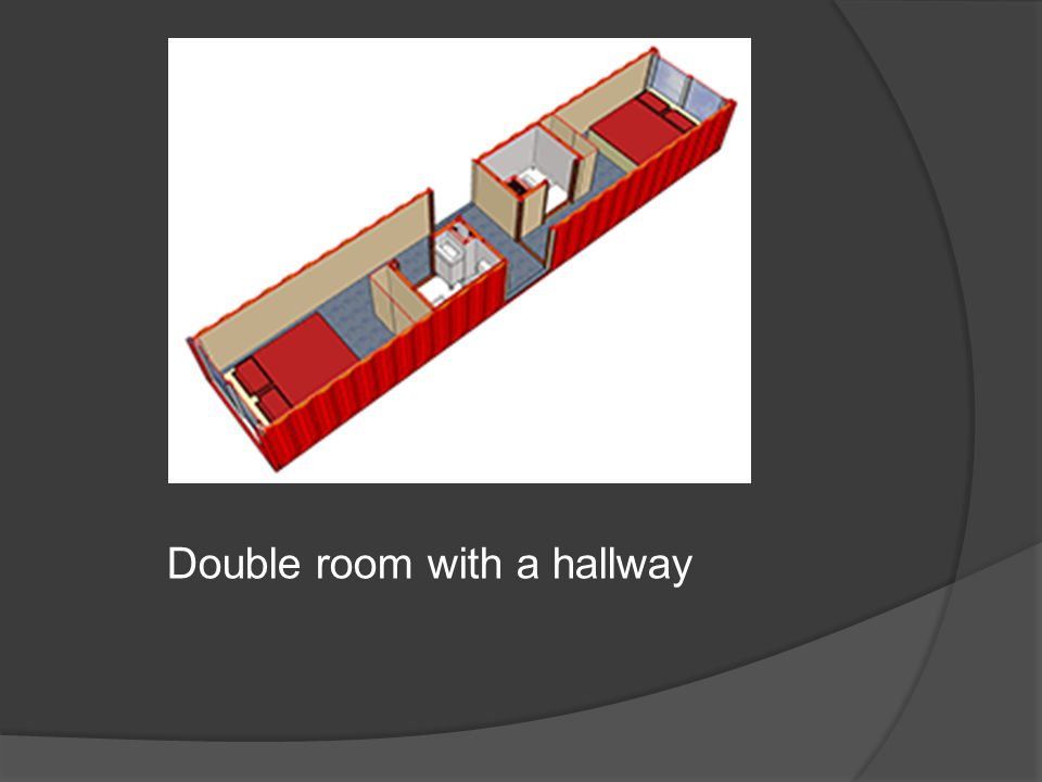 Double room with a hallway