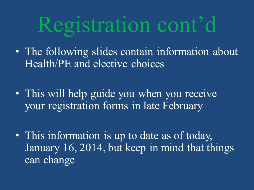 Improve the overall health and well being of middle school students Healthful Living Mission