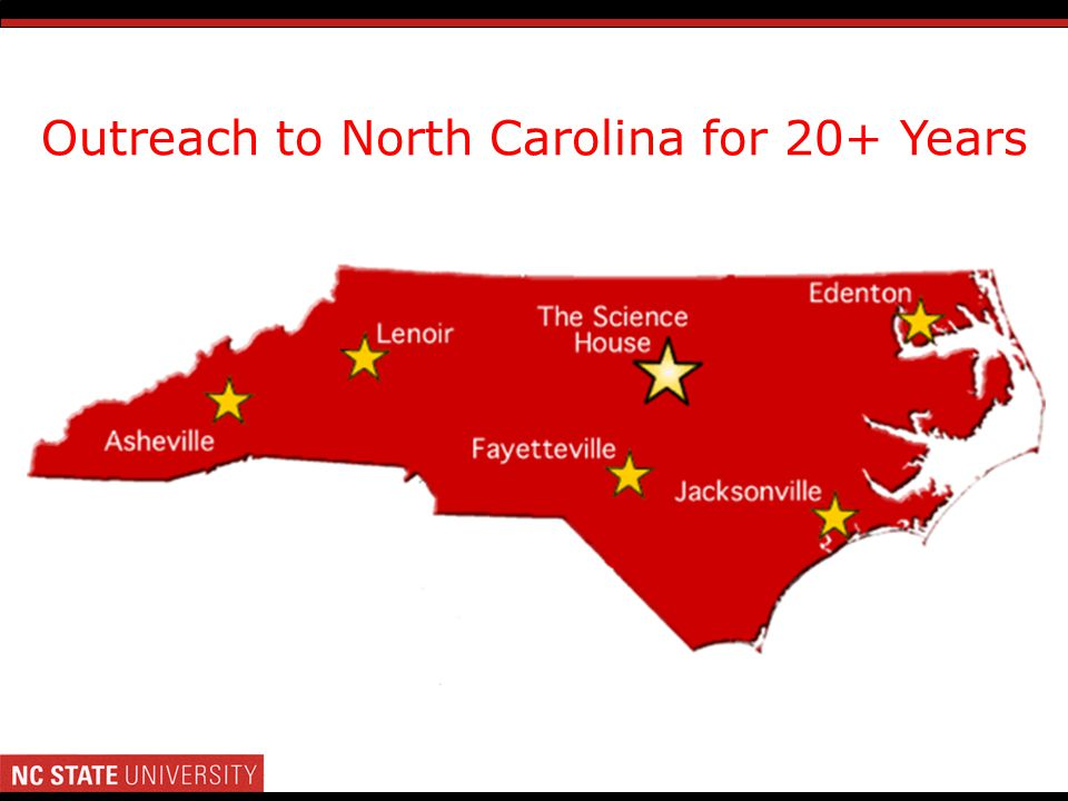 Outreach to North Carolina for 20+ Years