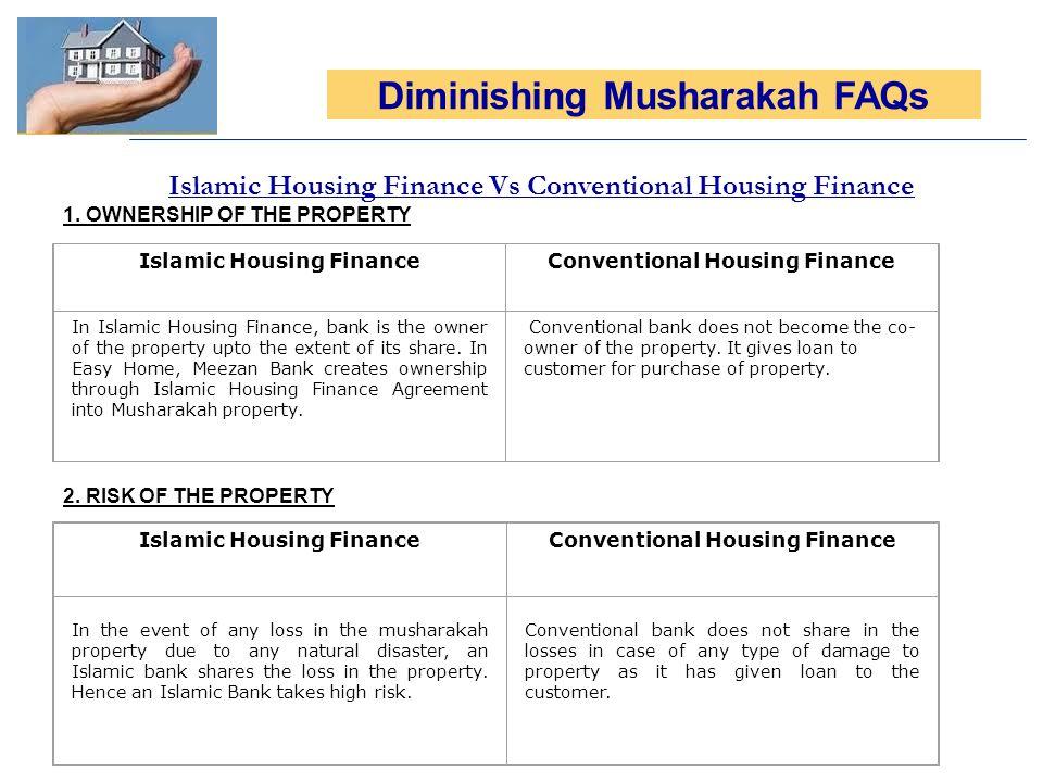 Islamic Housing Finance Vs Conventional Housing Finance 1.