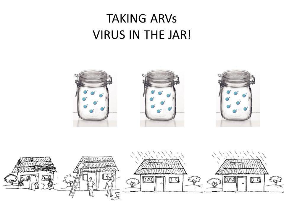 TAKING ARVs VIRUS IN THE JAR!