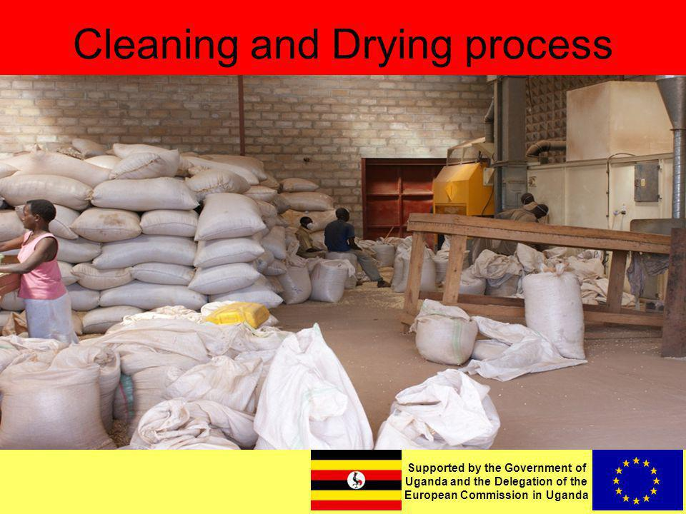 Supported by the Government of Uganda and the Delegation of the European Commission in Uganda Cleaning and Drying process
