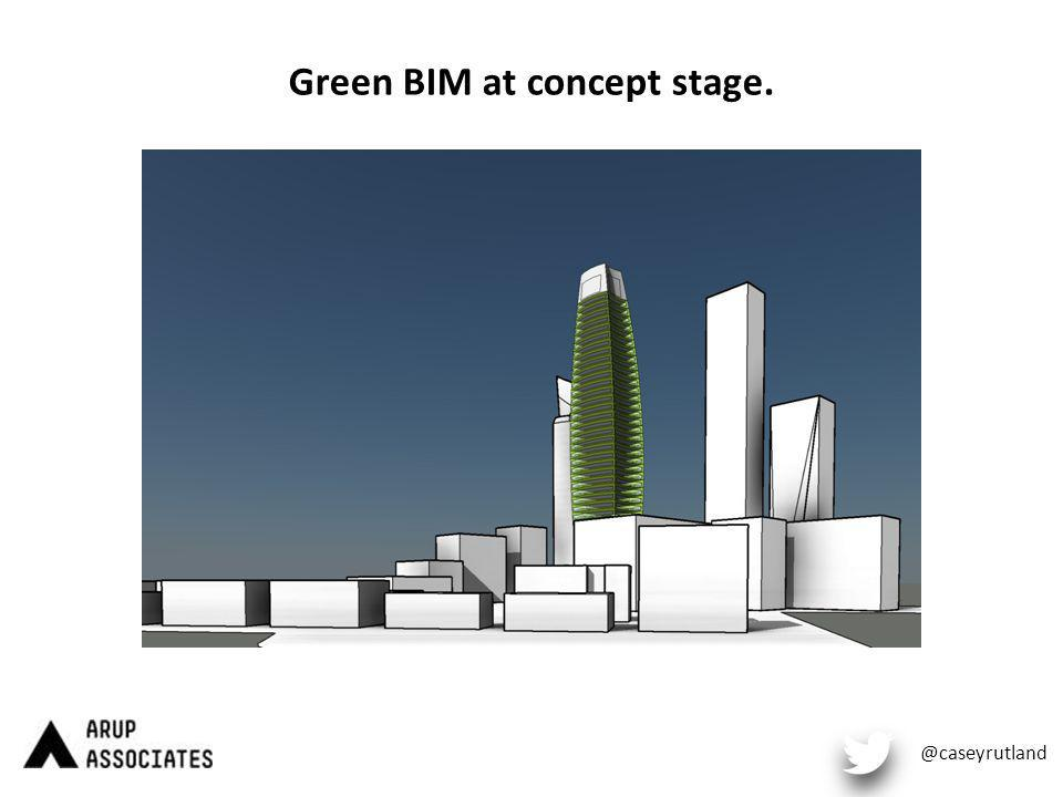 Green BIM at concept stage. @caseyrutland