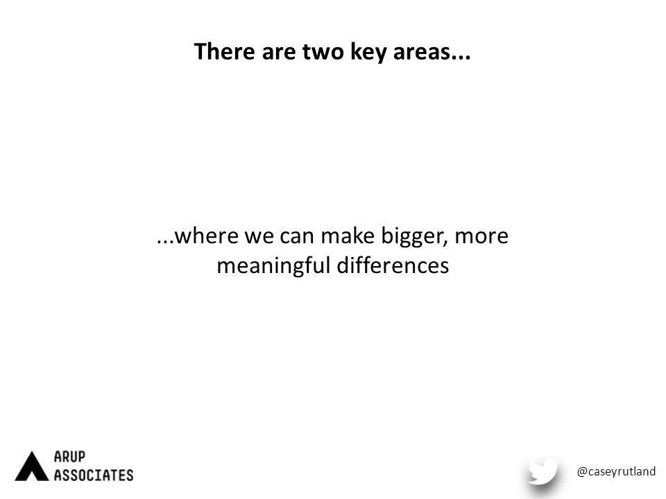 There are two key areas......where we can make bigger, more meaningful differences @caseyrutland
