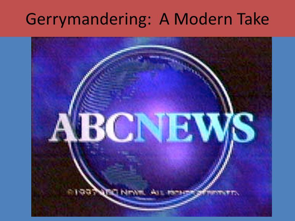 Gerrymandering: A Modern Take