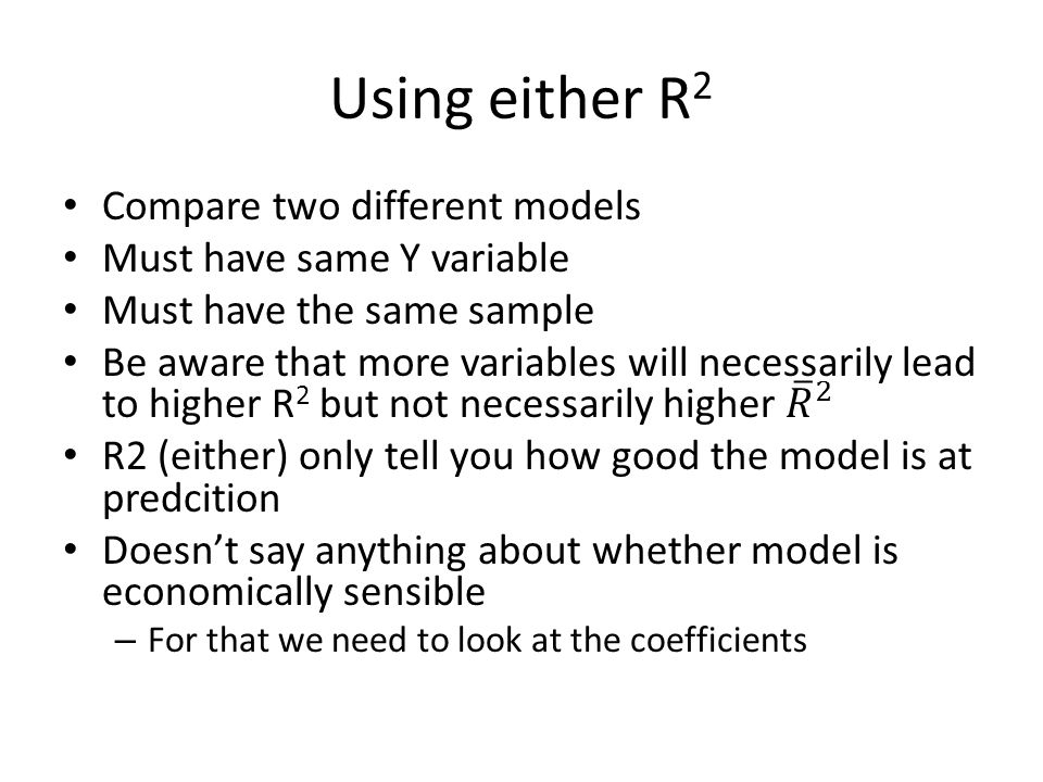 Using either R 2