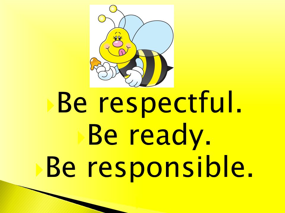 Be respectful. Be ready. Be responsible.