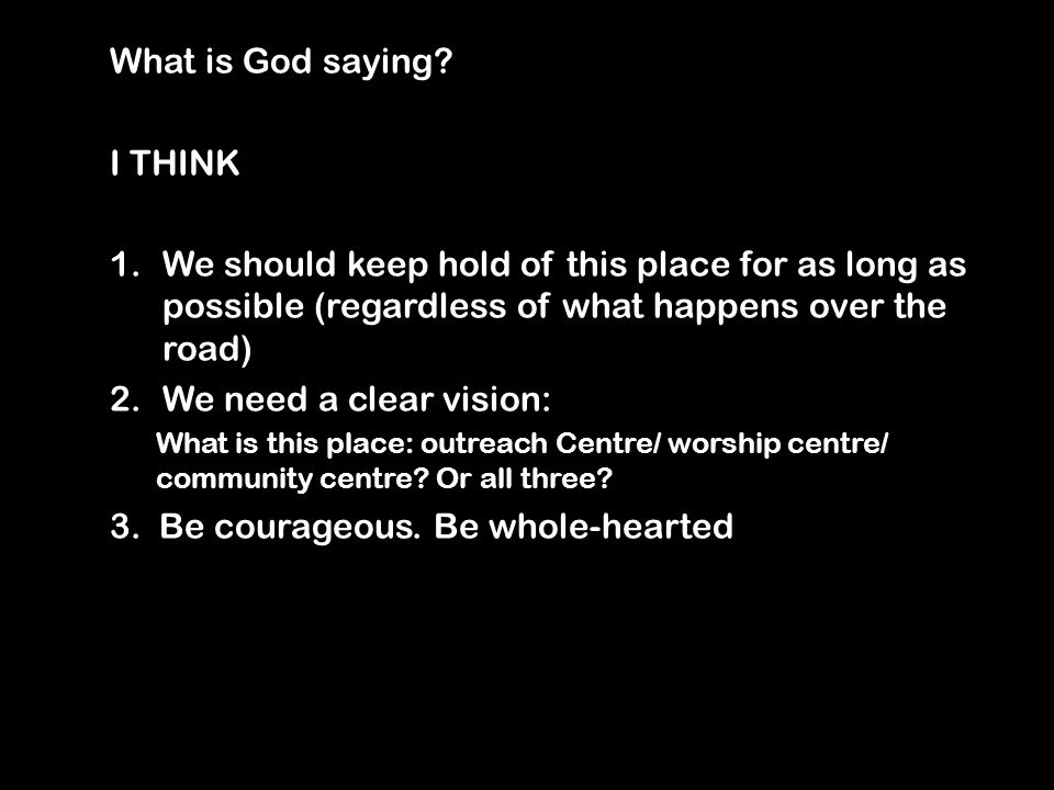 What is God saying.
