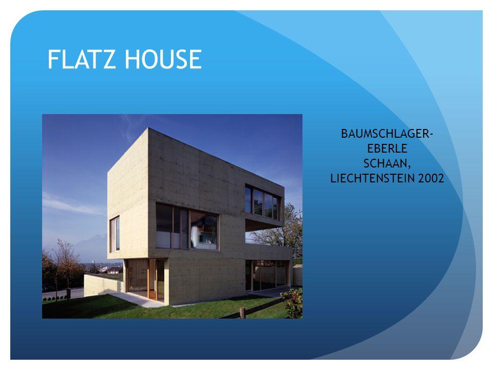 FLATZ HOUSE BAUMSCHLAGER- EBERLE SCHAAN, LIECHTENSTEIN 2002
