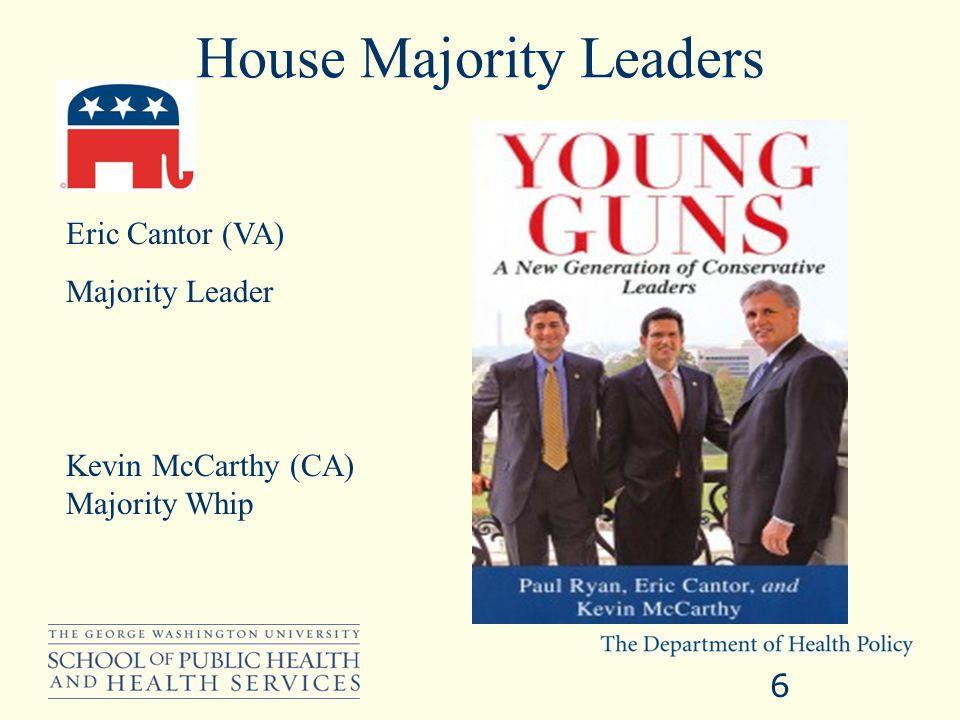 House Minority Floor Leaders 7 Nancy Pelosi (CA) Minority Leader Stenny Hoyer (MD) Minority Whip Jim Clyburn (SC) Assistant Minority Leader