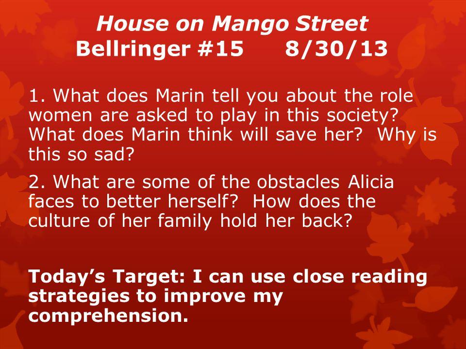 House on Mango Street Bellringer #158/30/13 1.