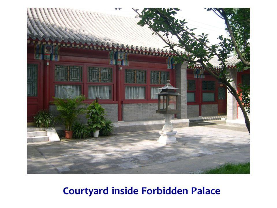Courtyard inside Forbidden Palace