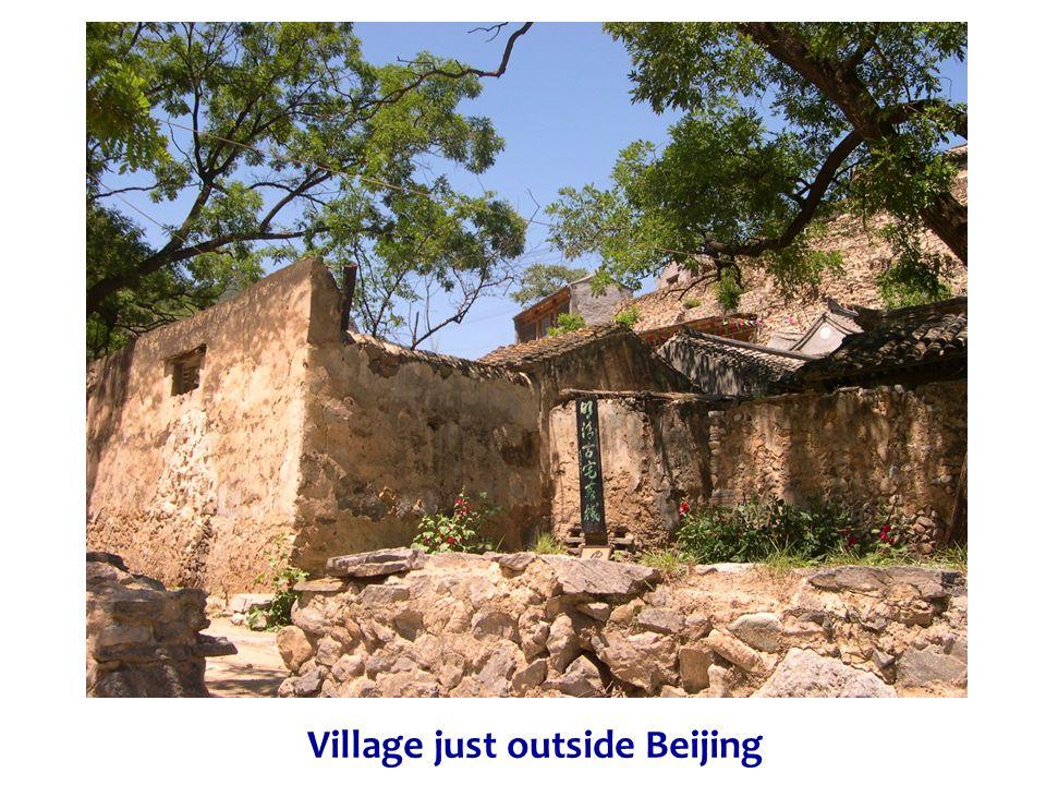 Village just outside Beijing
