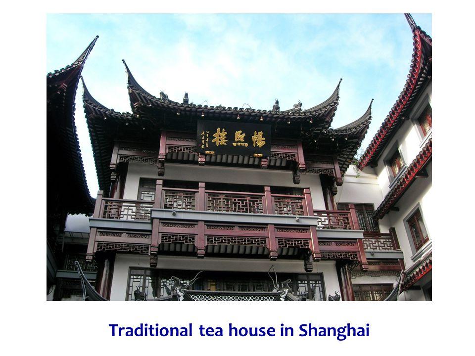 Traditional tea house in Shanghai