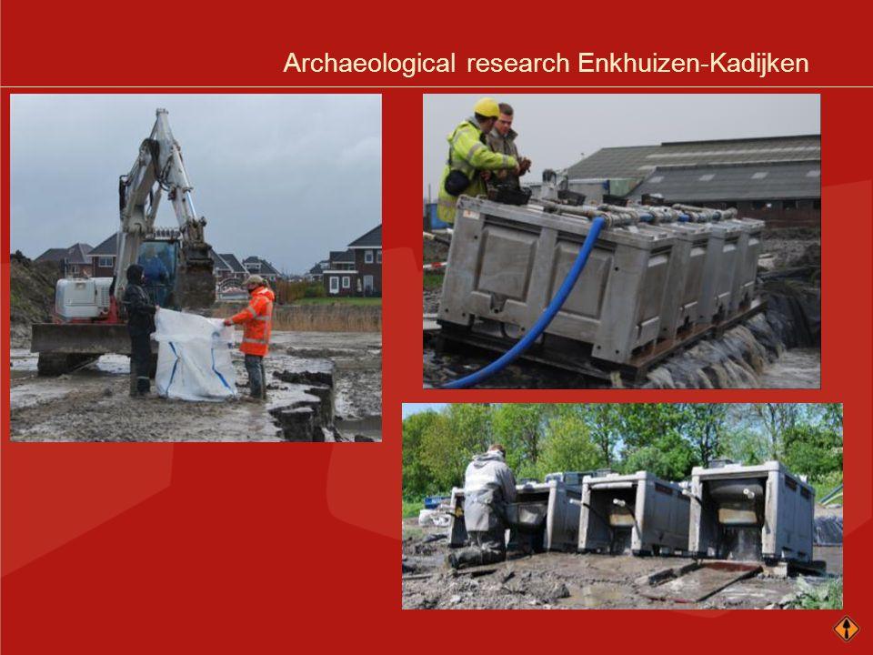 Archaeological research Enkhuizen-Kadijken