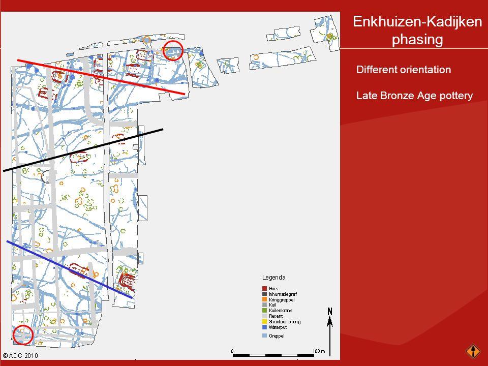 Enkhuizen-Kadijken phasing Different orientation Late Bronze Age pottery